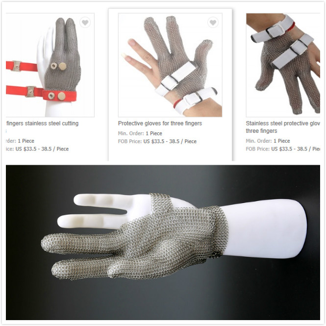 Protective gloves for three fingers