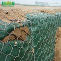 Galvanized gabion woven basket for rock