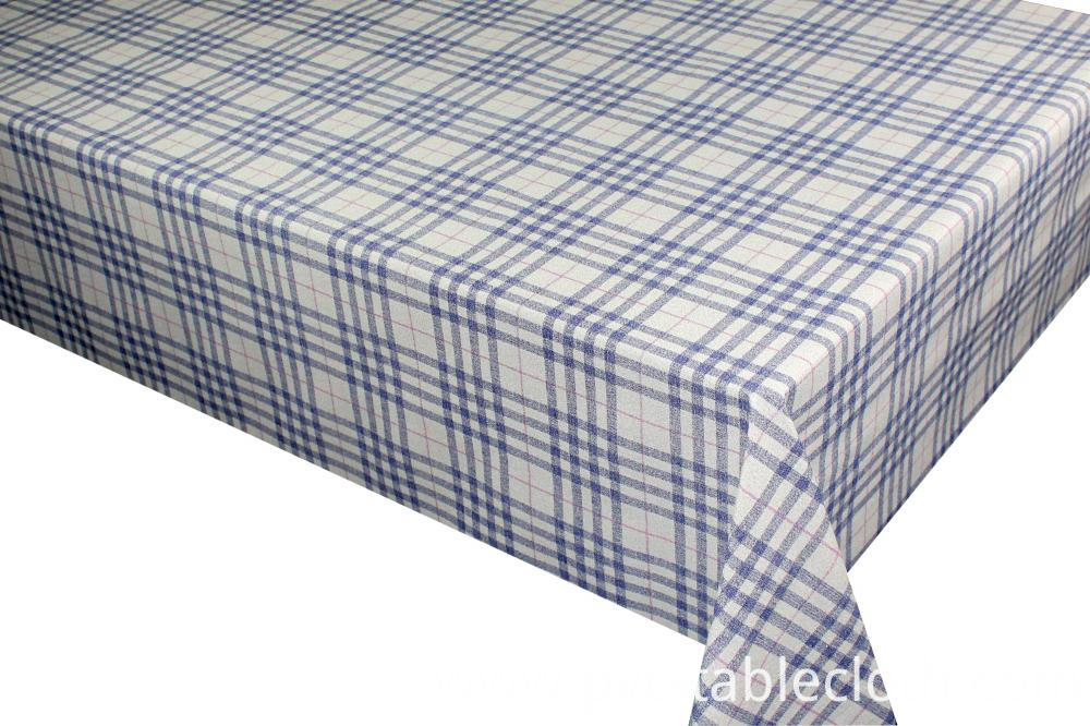 Pvc Printed with Flannel Backing by Roll