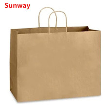 Custom kraft paper bags with handles