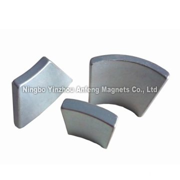 N42 Zinc Plated NdFeB Segment Magnets OR32.5xIR25.5x15x3 mm