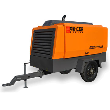 HG425M-10 two wheel diesel portable air compressor
