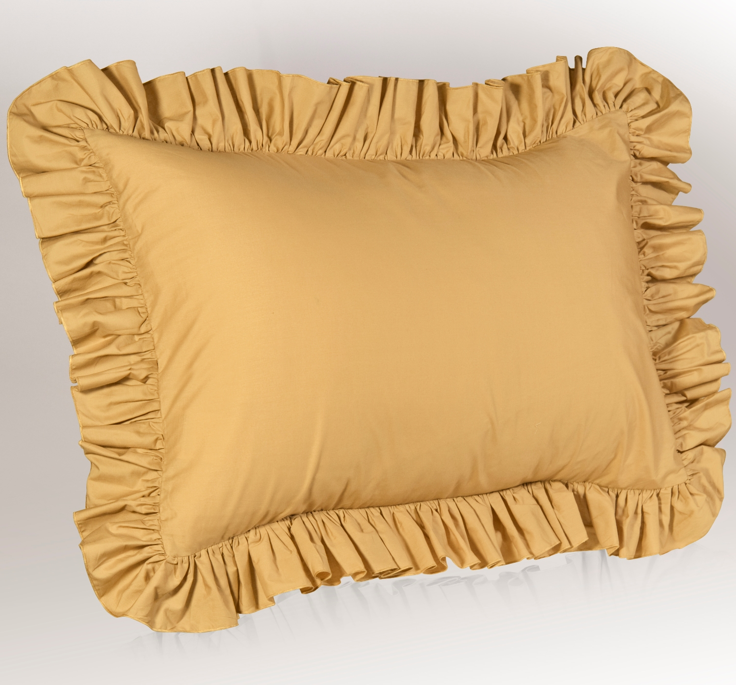 gold-ruffled-pillow-sham