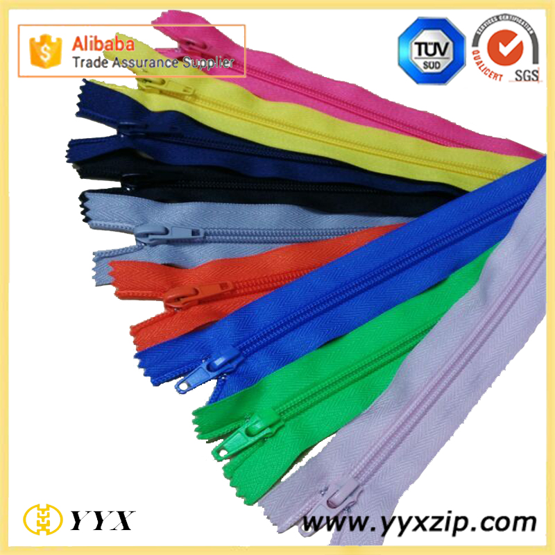 colored nylon zipper