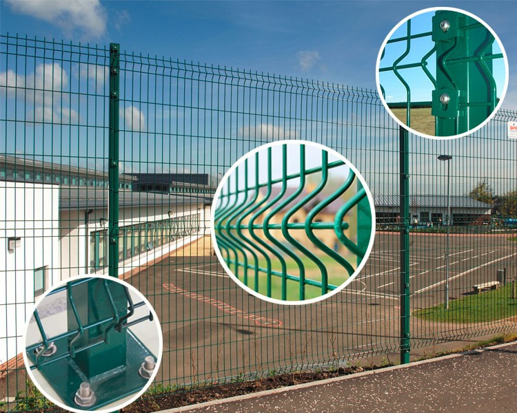 Wire Mesh Fence With Curves 3D Fence