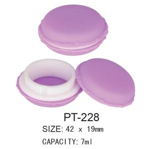 Plastic Cosmetic Empty Round Pot