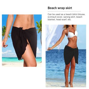 Women's Chiffon Short Sarong Beach Cover Up Wrap