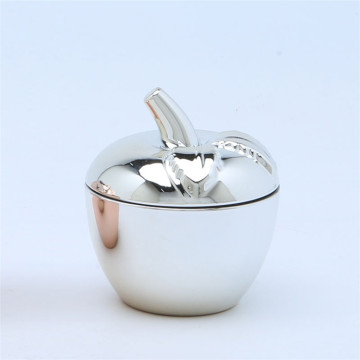 Hand Pressed Electro Plating Apple Candy  Jars
