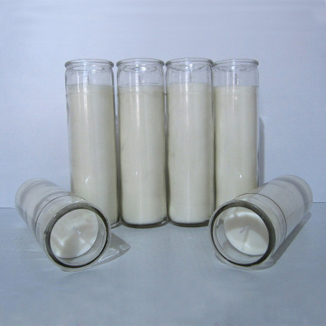 7 Day Vegetable Vigil Novene Devotional Glass Candles