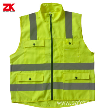 Hi-vis multi-pockets warning vest