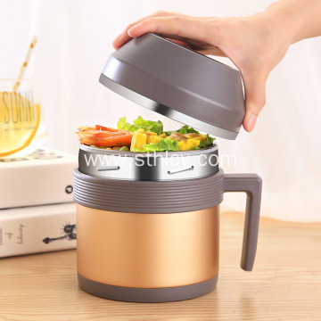 304 Stainless Steel Insulated Bowl With Lid
