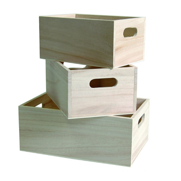 3 Wooden Nested Boxes