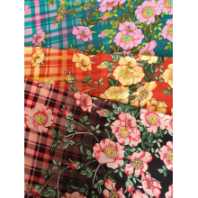 Good Quality for 32S Printing Fabric Check Flower Rayon Challis 32S Printing Fabric supply to East Timor Wholesale