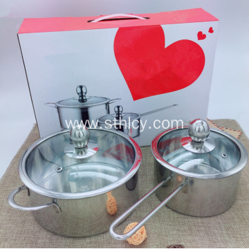 Non-magnetic Stainless Steel Cookware Set With Two Pieces