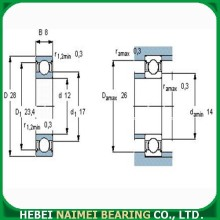 High Speed Deep Groove Ball Bearing 6001