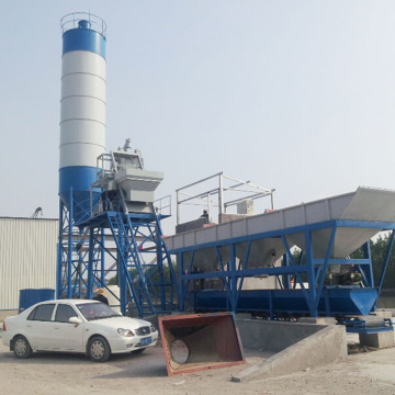 HZS35 mini mix precast concrete batching plant Pakistan