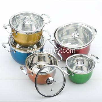 Capsuled Bottom Multiclad Hindi kinakalawang na Steel Stainless Cook