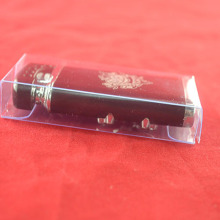 PVC transparent clear soft crease folding box package container for lighter