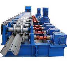 Highway metal guardrail forming machine