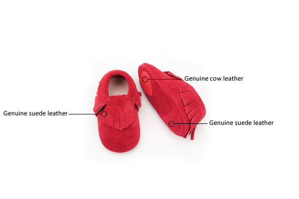 Red Baby Moccasin Shoes