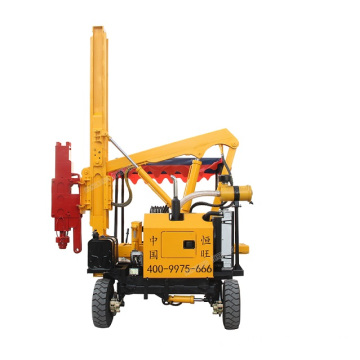 4 Wheels Hydraulic Road Pile Driver