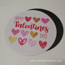 UV print round shaped  die cut sticker