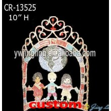 Top for Rhinestone Pageant Crowns Youth Volunteers Crown Kids Crown CR-13525 supply to Guyana Factory