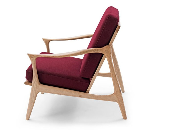 Hotel wood lounge chair