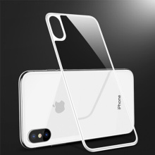 White Tempered Glass Back Case for iPhone X