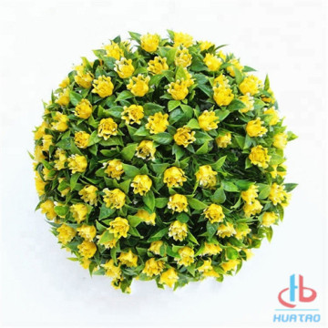 Holiday sales for Artificial Outdoor Plants Artificial Plant Ball With Yellow Flower export to Indonesia Supplier