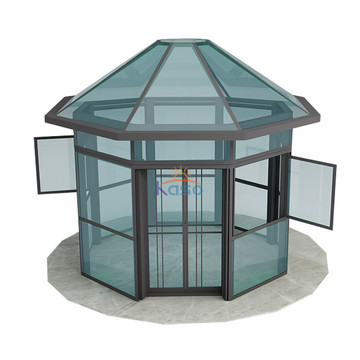 Polycarbonate Sunroom Prefabricated Aluminum Glass Sunroom