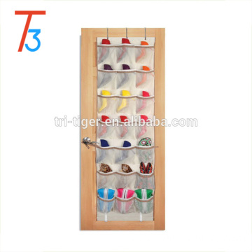 42 Pocket mesh fabric hanging wall pocket shoe storage organizer