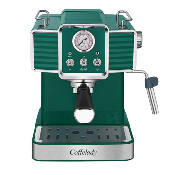 15 bar pump coffee maker with Pressure gauge