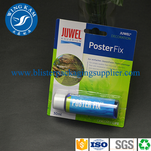 Clear PVC/PET Hot sealed Blister With Card Insert