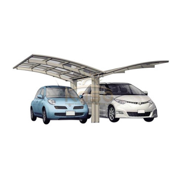 Lean Frame Fiberglass Roof Metal Enclosed Carport Kit