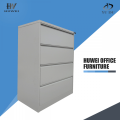 Metal lateral four drawer file cabinets