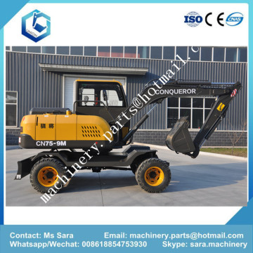 7 Tons 8Tons 9Tons Mini Wheel Excavator
