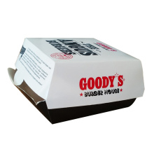 Corrugated fast food take away hamburger carton box