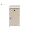 Ivory White Integrated Solid Wood Night Stand