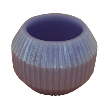 Round Holder Paraffin Fluted Candles
