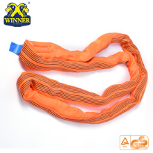 High Quality for Synthetic Web Slings Polyester Heavy Duty WLL 10 Ton Polyester Round Sling export to Ecuador Importers
