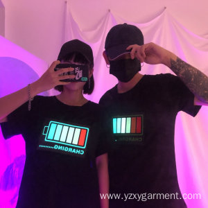 Original Factory for Festival Dress Couple lights up black tshirt export to Cambodia Factories
