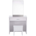 wooden dressing table with Hidden Mirror Storage and Lift-Top Stool