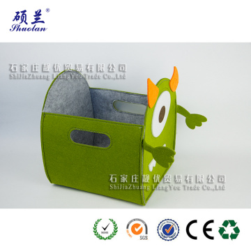 Wholesale hot selling felt storage basket bag