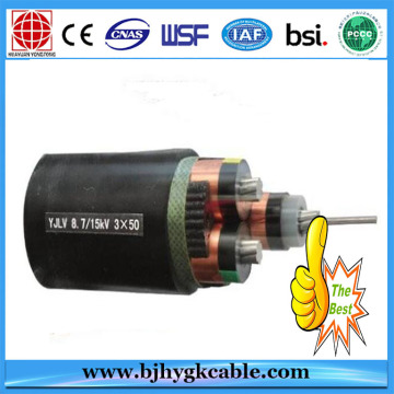 12KV Copper Conductor Aluminum Wire Armour PVC Sheath cable