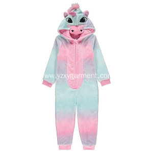 Quality Inspection for Kids Onesie OS02-Rainbow unicorn embroidery fleece onesie export to Slovakia (Slovak Republic) Factories