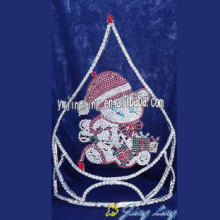 Hot selling attractive for China Christmas Snowflake Round Crowns, Candy Pageant Crowns, Party Hats. Snowman Tiara Big Pageant Christmas Crowns supply to Pitcairn Factory