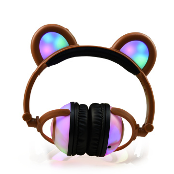 Factory Promotional for Bear Headphones Glowing Earphone Wireless Panda Ear Music Headphones export to Myanmar Supplier