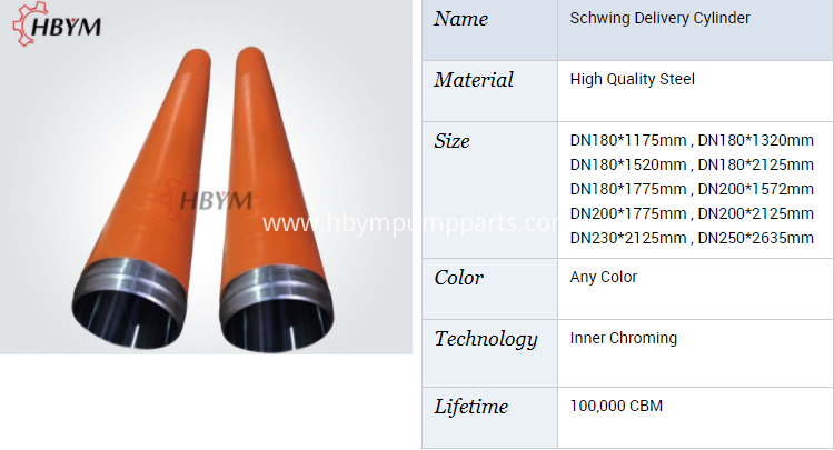schwing spare parts conveying cylinder