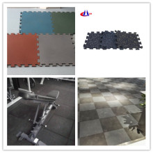 500x500mm black color rubber gym floor tile